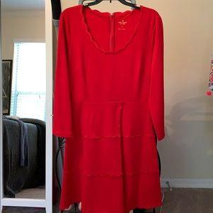 Kate spade red ponte dress NWT